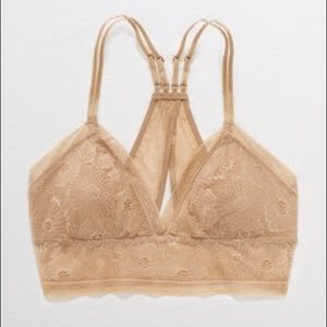 NWT aerie bralette lace nude beige